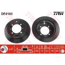 Комплект спирачни дискове TRW  - Задна ос